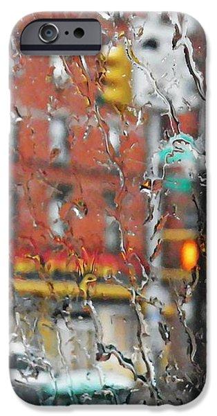 Rainy Day NYC 2 iPhone Case by Sarah Loft