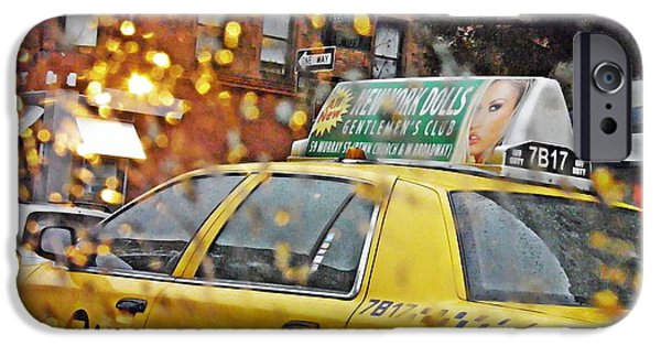 Rainy Day iPhone Cases - Rainy Day NYC iPhone Case by Sarah Loft