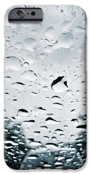 Raining iPhone Cases - Rainy iPhone Case by HD Connelly