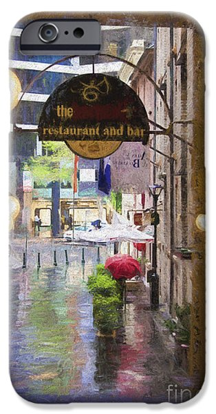 Rainy Day iPhone Cases - Rainy Sydney day iPhone Case by Sheila Smart