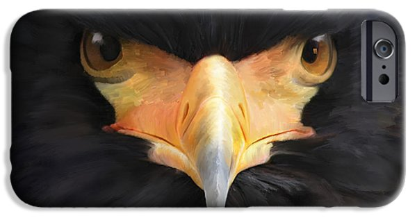 Spirit Hawk iPhone Cases - Raise Your Prophetic Voice iPhone Case by Tamer and Cindy Elsharouni