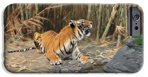 Wild Animals iPhone Cases - Raising His Voice iPhone Case by Wilhelm Kuhnert