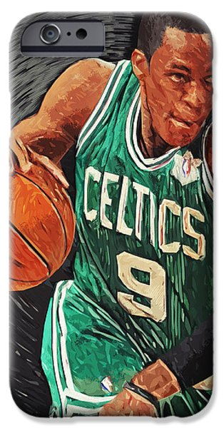 Paul Pierce iPhone Cases - Rajon Rondo iPhone Case by Taylan Soyturk