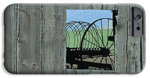 Machinery iPhone Cases - Rake and Barn iPhone Case by Latah Trail Foundation