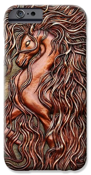 Relief Sculpture Reliefs iPhone Cases - Rakhsh iPhone Case by Ashkan Fallahi