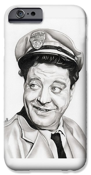 Meadow Drawings iPhone Cases - Ralph Kramden iPhone Case by Fred Larucci
