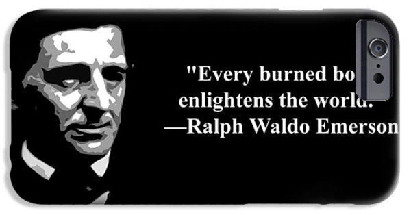 Censorship iPhone Cases - Ralph Waldo Emerson on censorship  iPhone Case by Artist  Singh