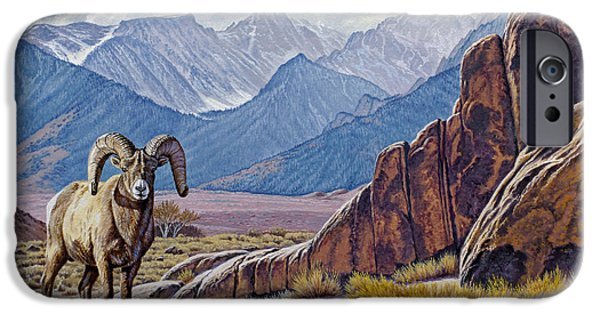 Sierras iPhone Cases - Ram-Eastern Sierra iPhone Case by Paul Krapf