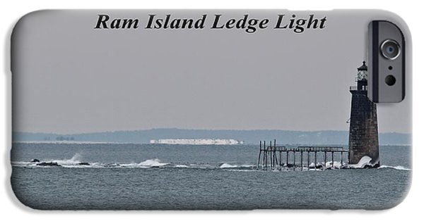 Winter In Maine iPhone Cases - Ram Island Ledge Light_9941 iPhone Case by Joseph Marquis