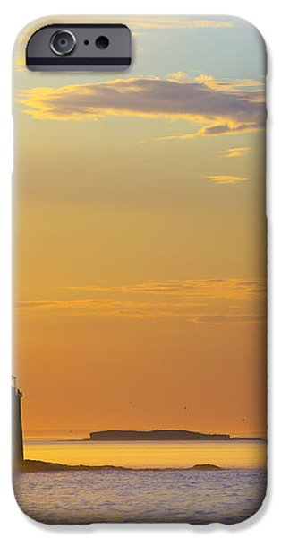 Ram Island Lighthouse Casco Bay Maine iPhone Case by Diane Diederich