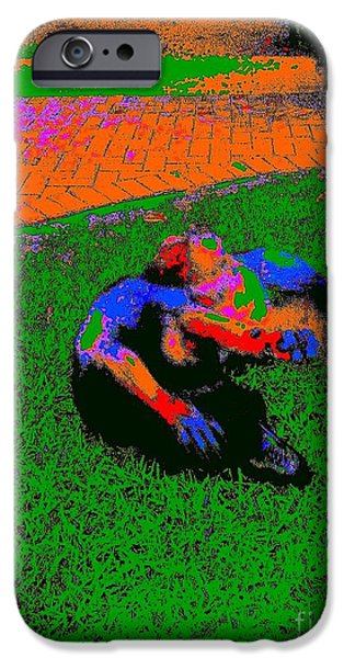 Puppy Love Greeting Cards iPhone Cases - Rambo Roll 10 A iPhone Case by Nina Kaye