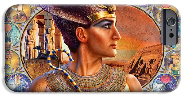 Pharaoh iPhone Cases - Rameses II iPhone Case by Andrew Farley