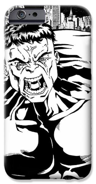 Dark Knight iPhone Cases - Rampaging iPhone Case by Mark Rogan