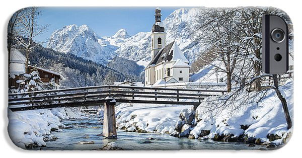 River View iPhone Cases - Ramsau in winter iPhone Case by JR Photography