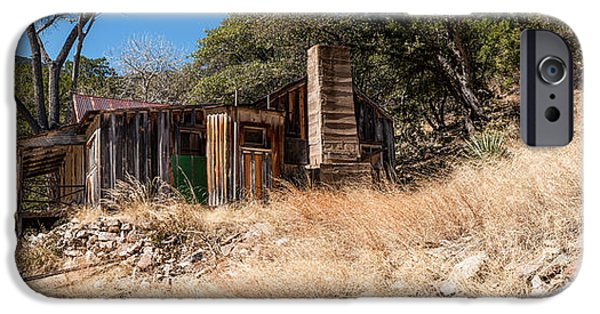 Ruin iPhone Cases - Ramsey Canyon Homestead 1 iPhone Case by Al Andersen