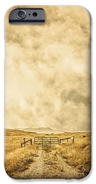 Ranch iPhone Cases - Ranch Gate iPhone Case by Edward Fielding