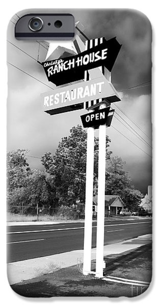 Monotone iPhone Cases - Ranch House iPhone Case by John Rizzuto