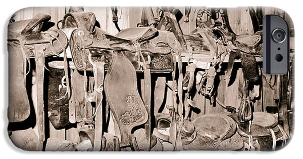Horse Bit iPhone Cases - Ranch Tack Room iPhone Case by Robert Frederick