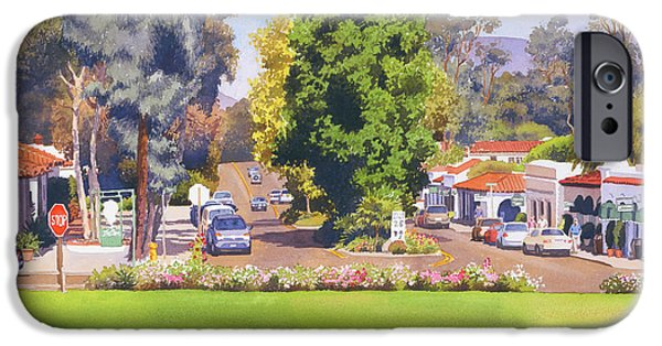 Town iPhone Cases - Rancho Santa Fe California iPhone Case by Mary Helmreich
