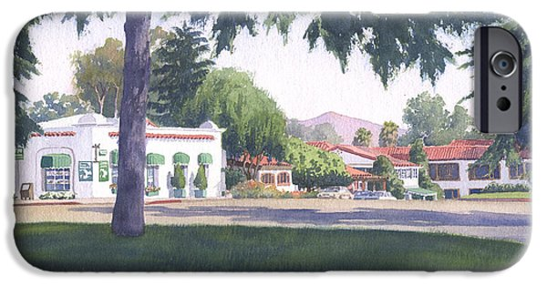 Sycamore iPhone Cases - Rancho Santa Fe Center iPhone Case by Mary Helmreich