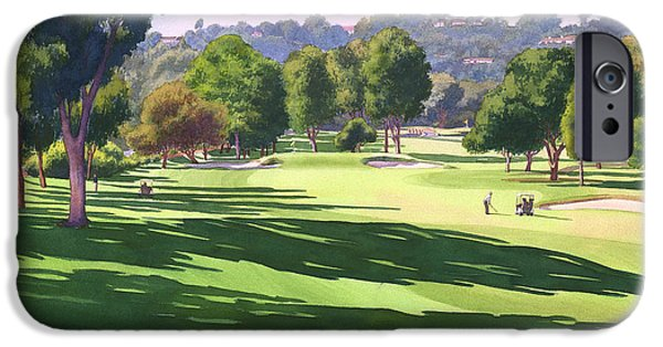 Santa iPhone Cases - Rancho Santa Fe Golf Course iPhone Case by Mary Helmreich