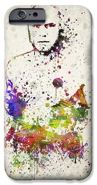 Boxer Digital Art iPhone Cases - Randy Couture iPhone Case by Aged Pixel