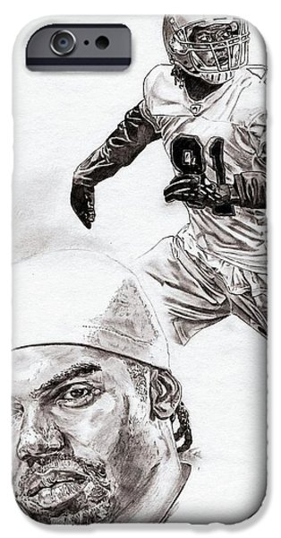 Randy Moss iPhone Case by Jonathan Tooley