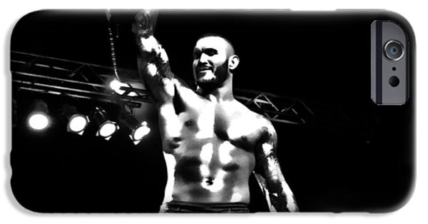 Randy iPhone Cases - Randy Orton BW HDR iPhone Case by Anibal Diaz