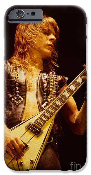 Daniel iPhone Cases - Randy Rhoads at The Cow Palace in San Francisco iPhone Case by Daniel Larsen