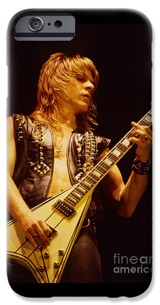 Concerts iPhone Cases - Randy Rhoads at The Cow Palace in San Francisco iPhone Case by Daniel Larsen