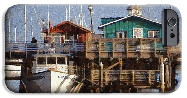 Whale Digital iPhone Cases - Randys Whale Watching And Fishing Trips Watercolor iPhone Case by Barbara Snyder