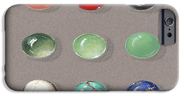 Food And Beverage Jewelry iPhone Cases - Range Of Ornamental Stones iPhone Case by Marie Esther NC