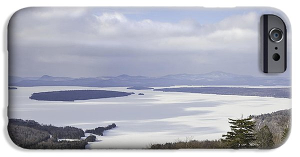 Winter Weather iPhone Cases - Rangeley Maine Winter Landscape iPhone Case by Keith Webber Jr