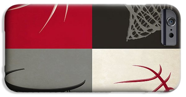 Dunk iPhone Cases - Raptors Ball And Hoop iPhone Case by Joe Hamilton