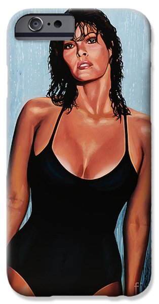 Film iPhone Cases - Raquel Welch iPhone Case by Paul  Meijering