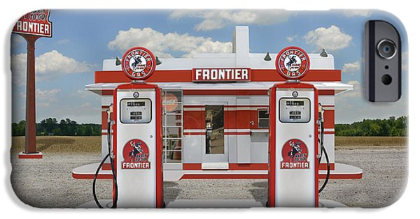 Gas iPhone Cases - Rarin to Go - Frontier Station iPhone Case by Mike McGlothlen