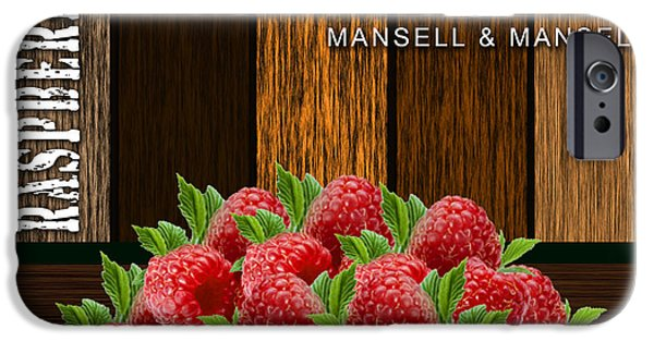 Raspberry iPhone Cases - Raspberry Fields Forever iPhone Case by Marvin Blaine