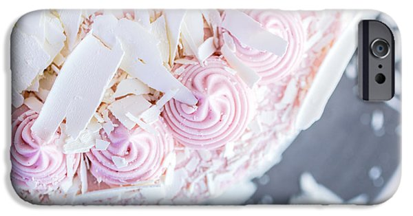 Raspberry iPhone Cases - Raspberry White Chocolate Cake iPhone Case by Edward Fielding