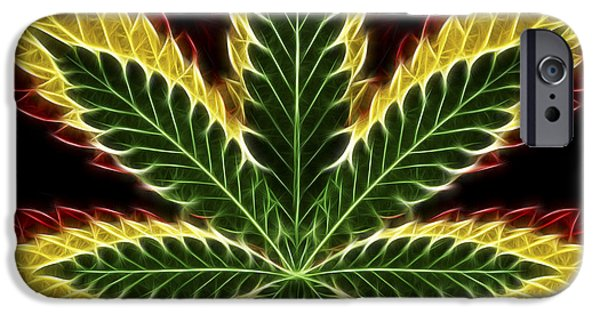 Joints iPhone Cases - Rasta Marijuana iPhone Case by Adam Romanowicz
