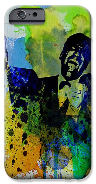 Frank Sinatra Paintings iPhone Cases - Rat Pack iPhone Case by Naxart Studio