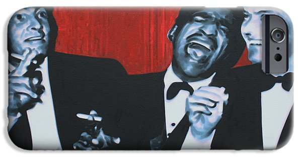 Frank Sinatra iPhone Cases - Rat Pack iPhone Case by Luis Ludzska