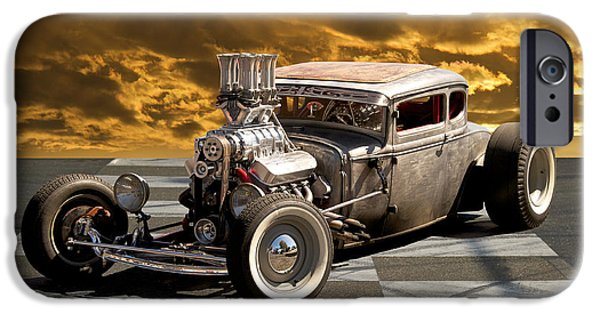 Injections iPhone Cases - Rat Rod Coupe III iPhone Case by Dave Koontz