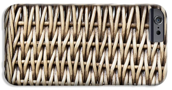 Furniture iPhone Cases - Rattan  iPhone Case by Tom Gowanlock