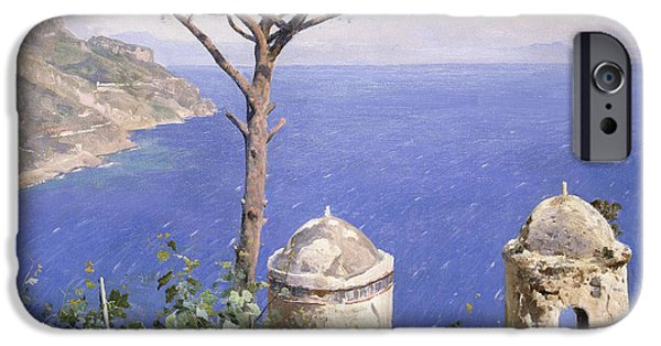 19th Century iPhone Cases - Ravello iPhone Case by Peder Monsted