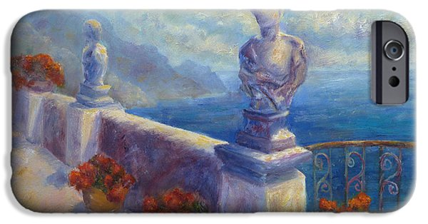 Paiting iPhone Cases - Ravello View iPhone Case by Carolyn Jarvis