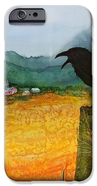 Raven and the Village 2 iPhone Case by Carolyn Doe