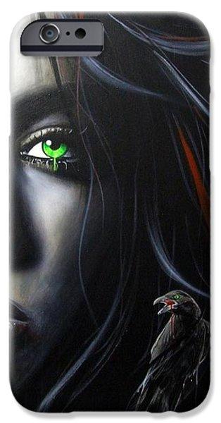'Raven Vixon' iPhone Case by Christian Chapman Art