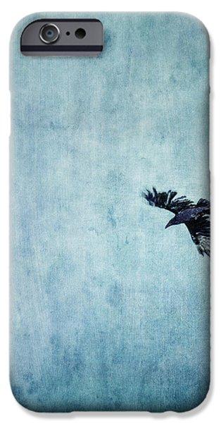 Ravens flight iPhone Case by Priska Wettstein