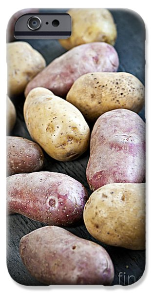 Raw potatoes iPhone Case by Elena Elisseeva