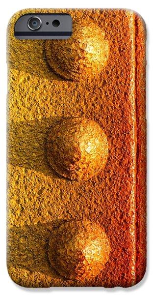 raw steel iPhone Case by Tom Druin